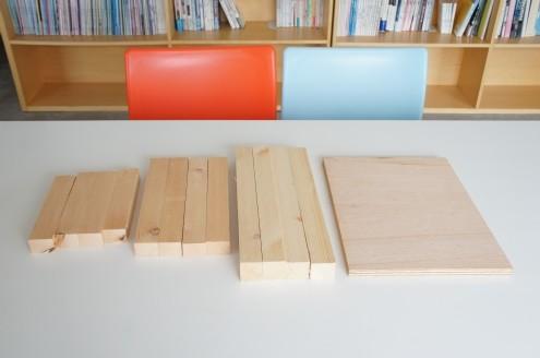 材料は先日、シェア八乙女向けにチェアを製作した余り物を提供しました。