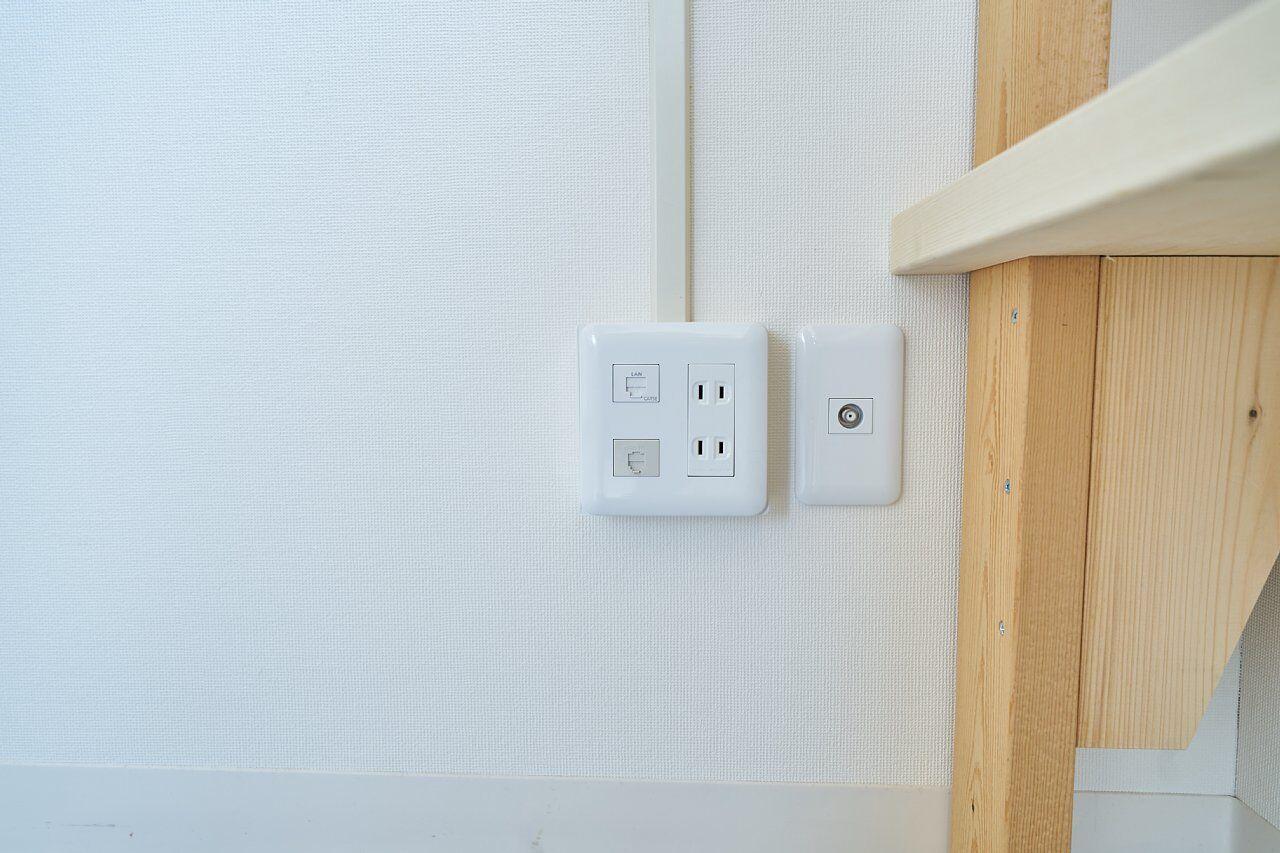 205号室:高速のネットコンセント