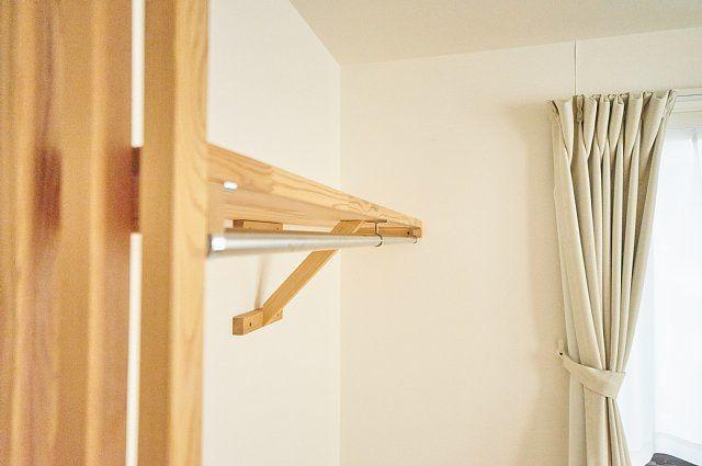 204号室:棚とハンガーパイプの様子
