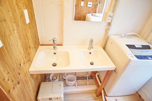 2連の洗面台